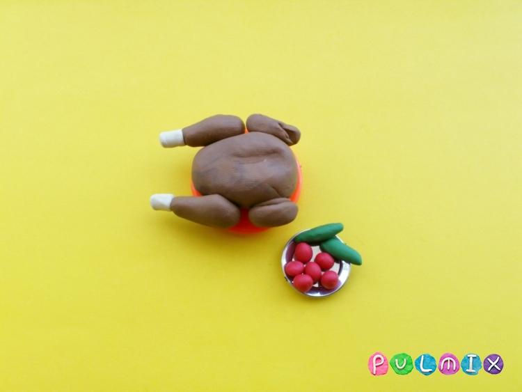 Как слепить обед для кукол из пластилина поэтапно - шаг 4