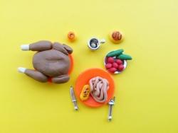 Как слепить вкусный обед для куклы