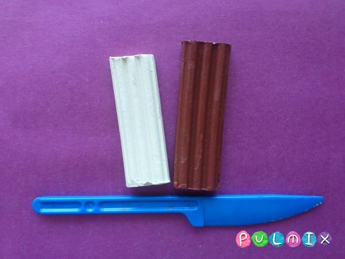 Как сделать из пластилина шоколадный торт поэтапно - шаг 1