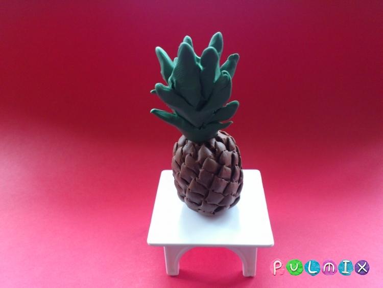Как слепить ананас из пластилина поэтапно - шаг 9