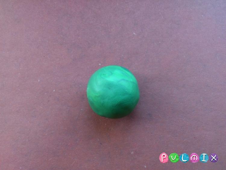 Как слепить арбуз в разрезе из пластилина - шаг 4