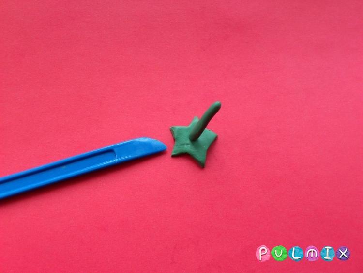 Как слепить горошек для кукол из пластилина поэтапно - шаг 7