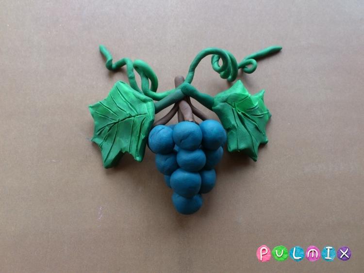 Как слепить гроздь винограда из пластилина поэтапно - шаг 8
