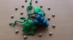 Как сделать гроздь винограда для кукол своими руками из пластилина поэтапно