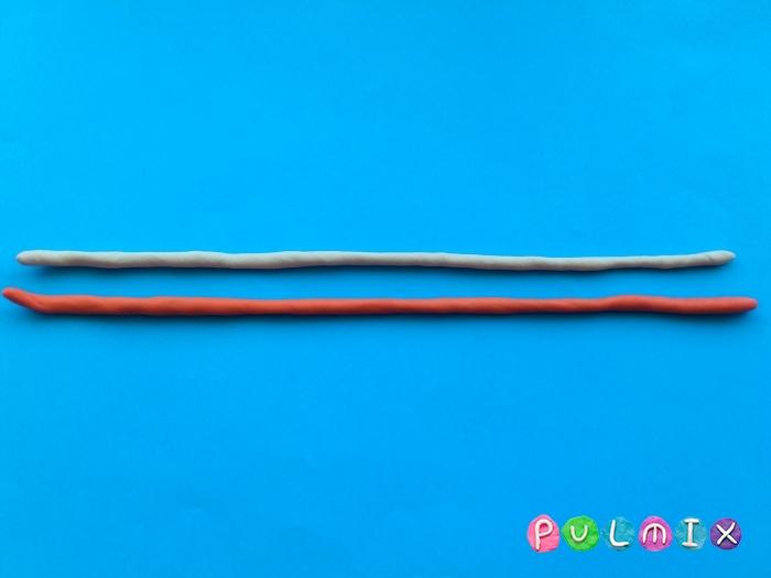 Как слепить из пластилина конфеты на палочке - шаг 2