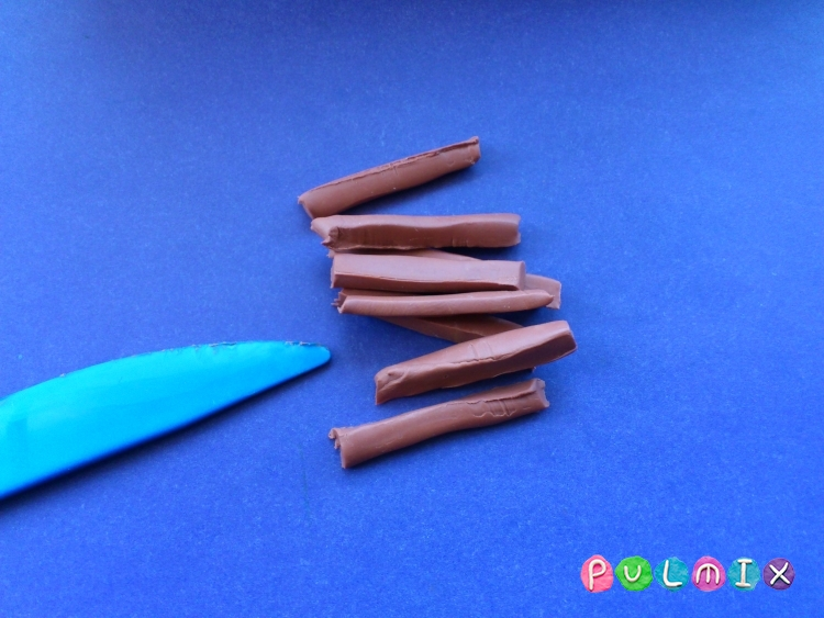 Как слепить картошку фри из пластилина поэтапно - шаг 4