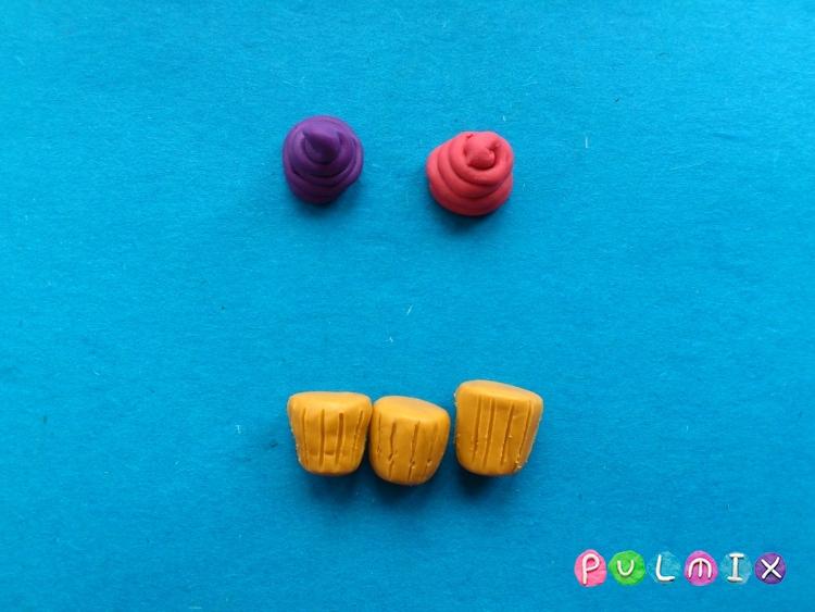 Как слепить кексы из пластилина поэтапно - шаг 6