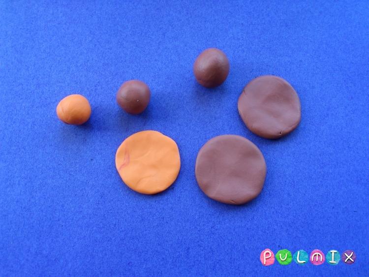 Как слепить кукольную еду печенье из пластилина поэтапно - шаг 3