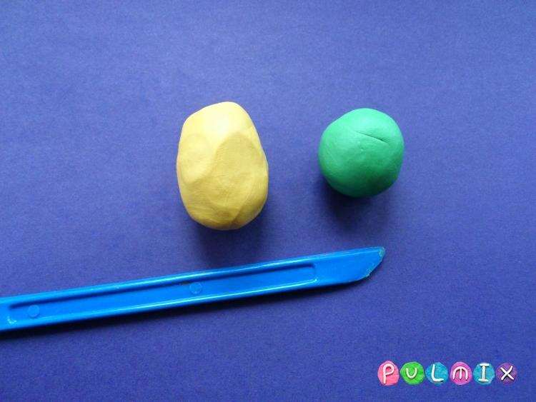 Как слепить кукурузу из пластилина поэтапно - шаг 1