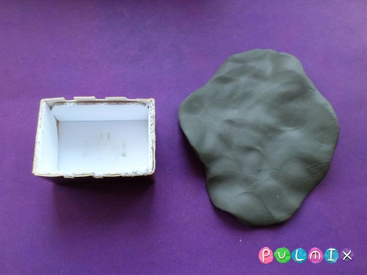 Как слепить мангал с шашлыком из пластилина - шаг 3