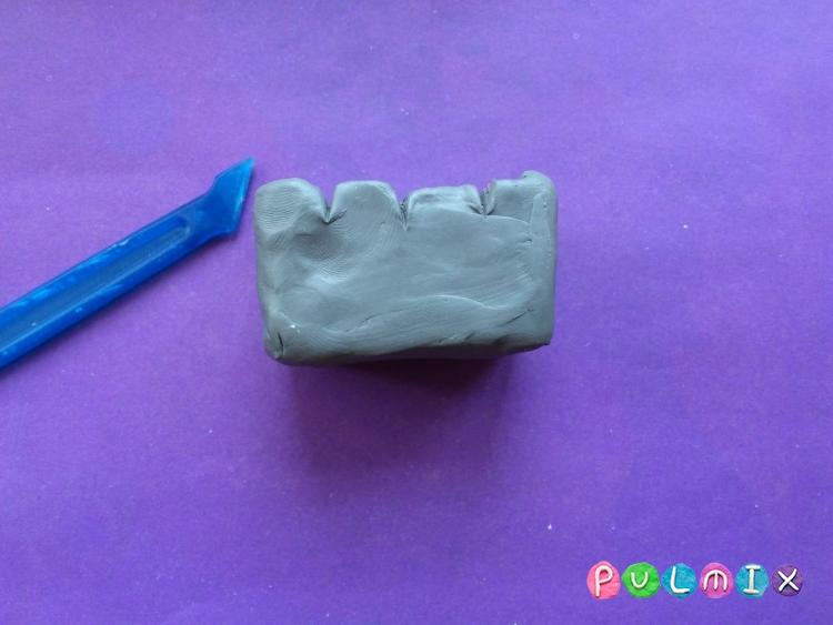 Как слепить мангал с шашлыком из пластилина - шаг 4