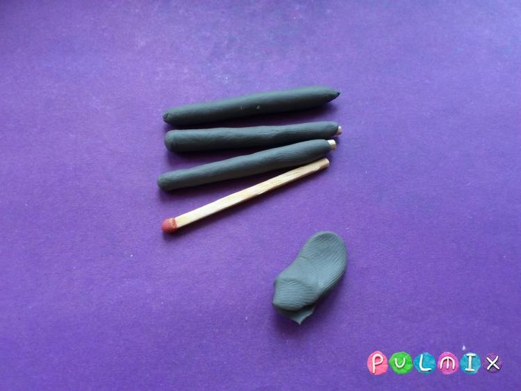 Как слепить мангал с шашлыком из пластилина - шаг 5