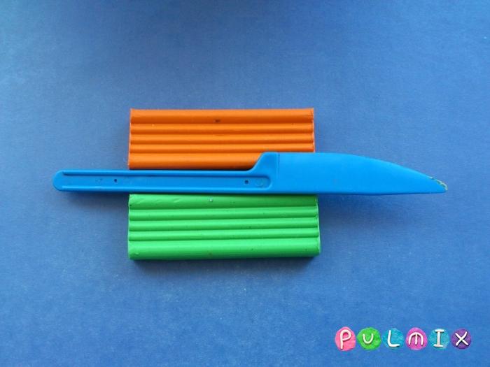 Как слепить морковку из пластилина поэтапно - шаг 1