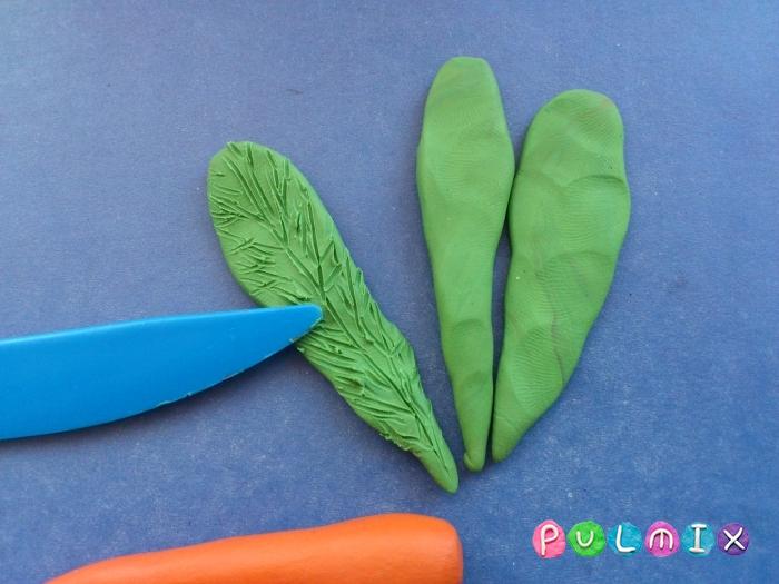 Как слепить морковку из пластилина поэтапно - шаг 5