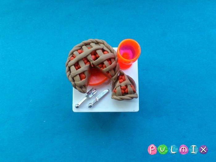 Как слепить пирог из пластилина поэтапно - шаг 9