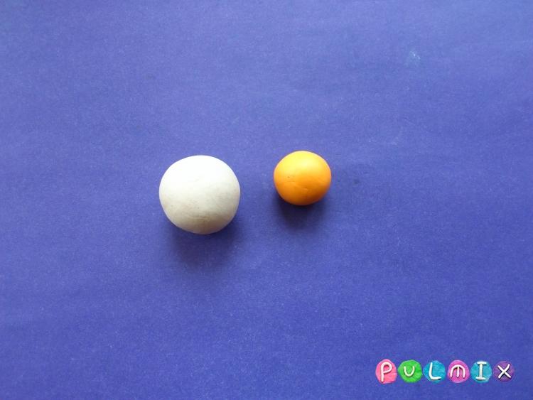 Как слепить пирожное для кукол из пластилина - шаг 1