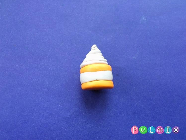 Как слепить пирожное для кукол из пластилина - шаг 6