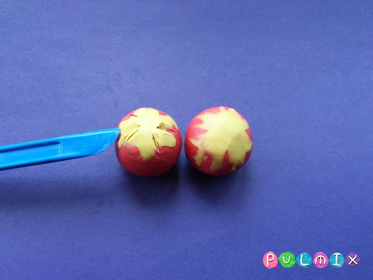 Как слепить помидоры из пластилина поэтапно - шаг 4