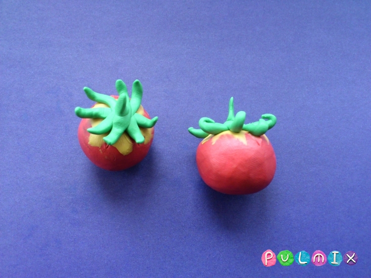 Как слепить помидоры из пластилина поэтапно - шаг 7