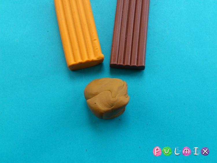 Как слепить пончики для кукол из пластилина поэтапно - шаг 2