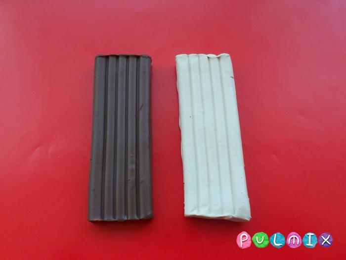 Как слепить шоколадные конфеты из пластилина - шаг 1