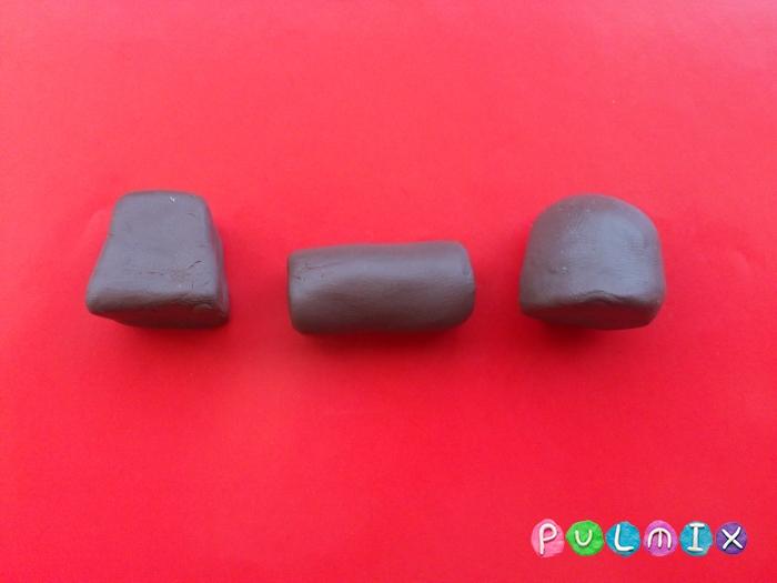 Как слепить шоколадные конфеты из пластилина - шаг 3