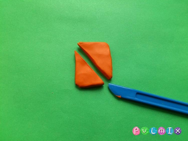 Как слепить сэндвич из пластилина поэтапно - шаг 2