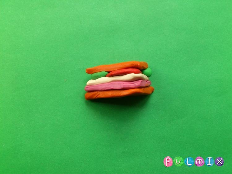 Как слепить сэндвич из пластилина поэтапно - шаг 5