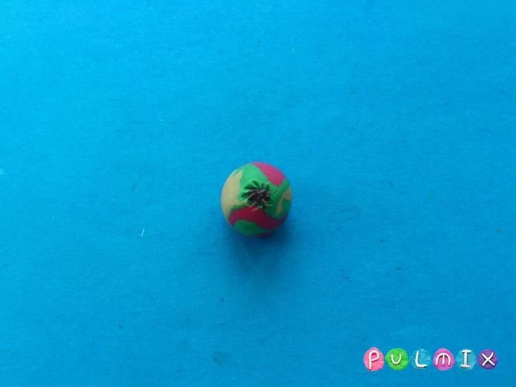 Как слепить яблоко из пластилина поэтапно - шаг 4