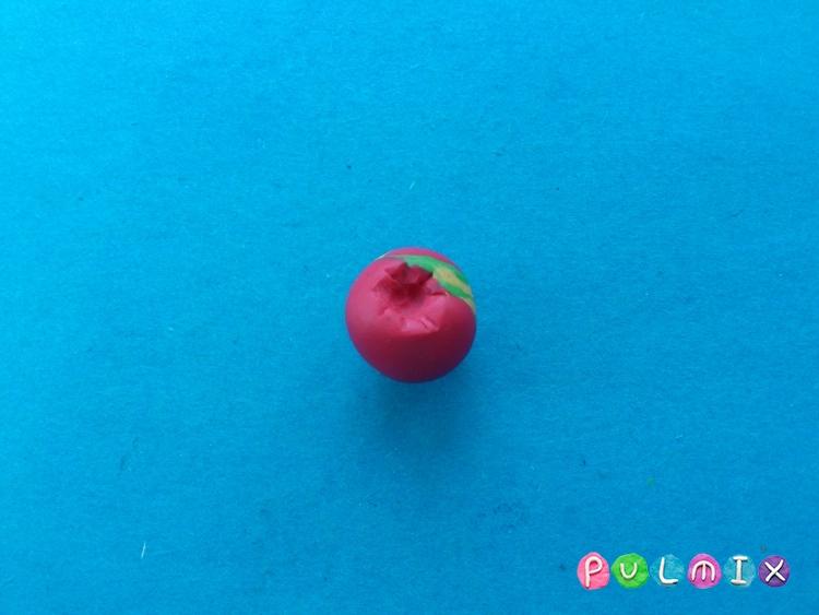 Как слепить яблоко из пластилина поэтапно - шаг 5