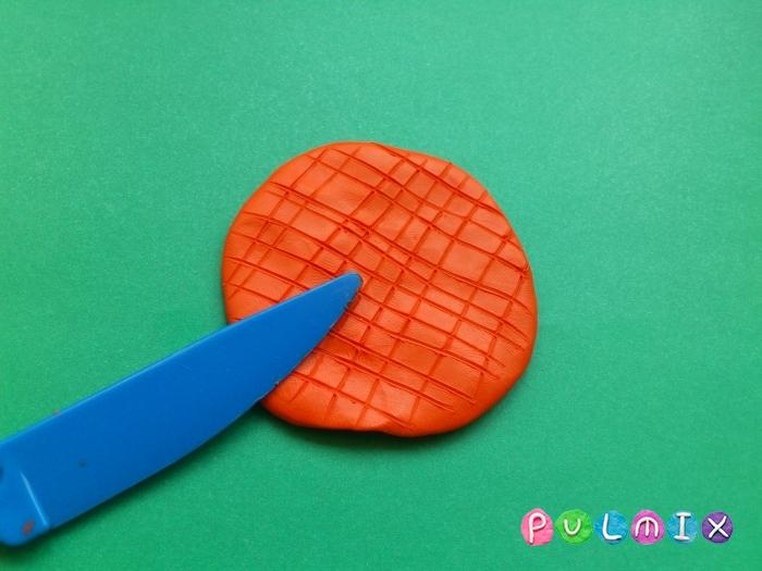 Лепим мороженое рожок из пластилина фото урок - шаг 3