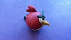 Как слепить птичку Рэда из пластилина из игры Энгри Бердз