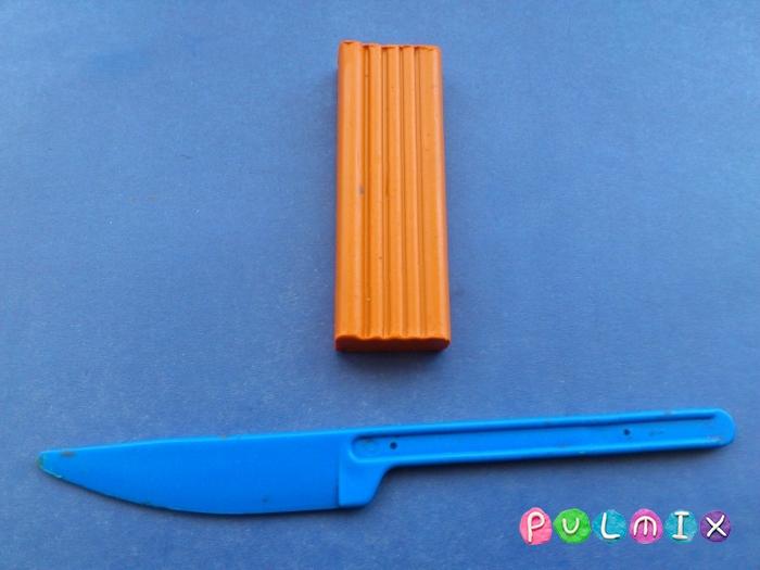 Как сделать фокси из пластилина поэтапно - шаг 1