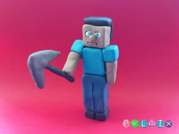 Как сделать Стива из пластилина поэтапно - шаг 13