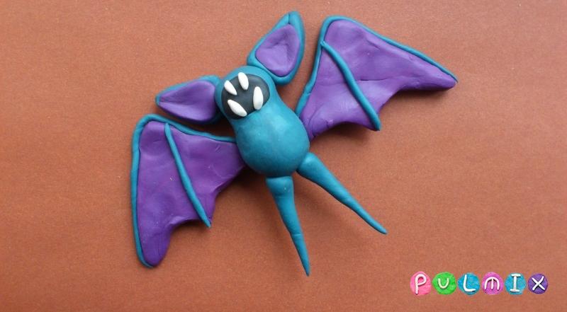 как сделать из пластилина мышь летучую мышь