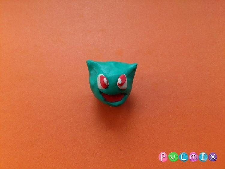 Как слепить покемона Бульбазавра из пластилина поэтапно - шаг 10