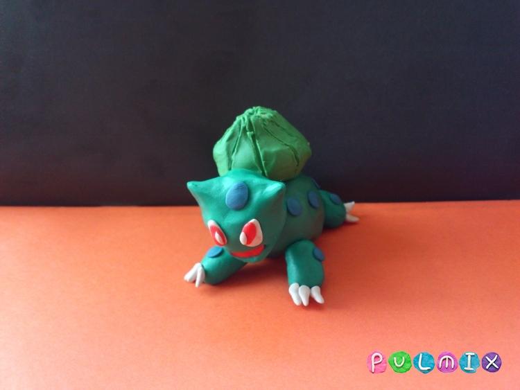 Как слепить покемона Бульбазавра из пластилина поэтапно - шаг 13