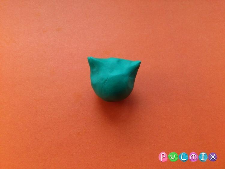 Как слепить покемона Бульбазавра из пластилина поэтапно - шаг 8