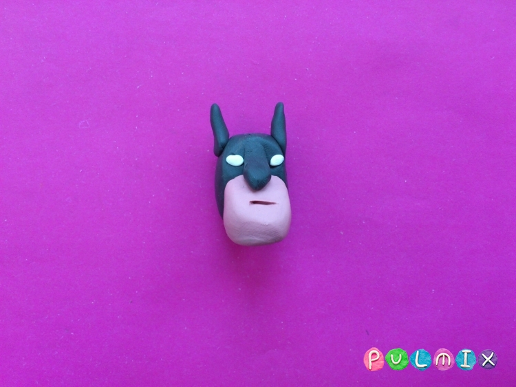 Как слепить Бэтмена из пластилина - шаг 4