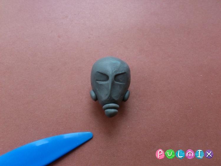 Как слепить человека-муравья из пластилина - шаг 2