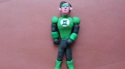 Как слепить Зеленого Фонаря - супергероя из пластилина своими руками