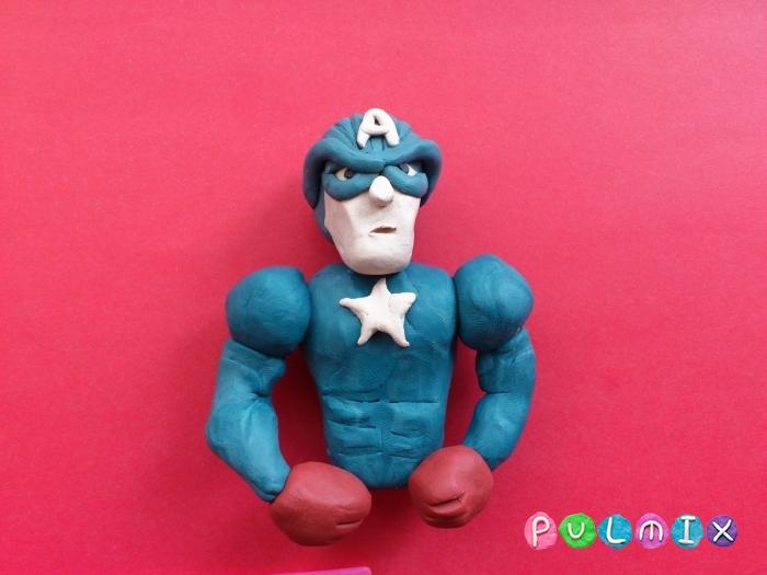 Как слепить Капитана Америка из пластилина поэтапно - шаг 10