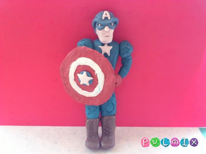 Как слепить Капитана Америка из пластилина поэтапно - шаг 14