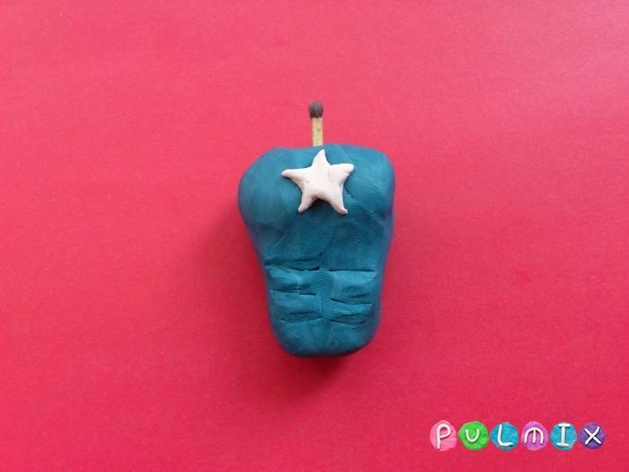 Как слепить Капитана Америка из пластилина поэтапно - шаг 7