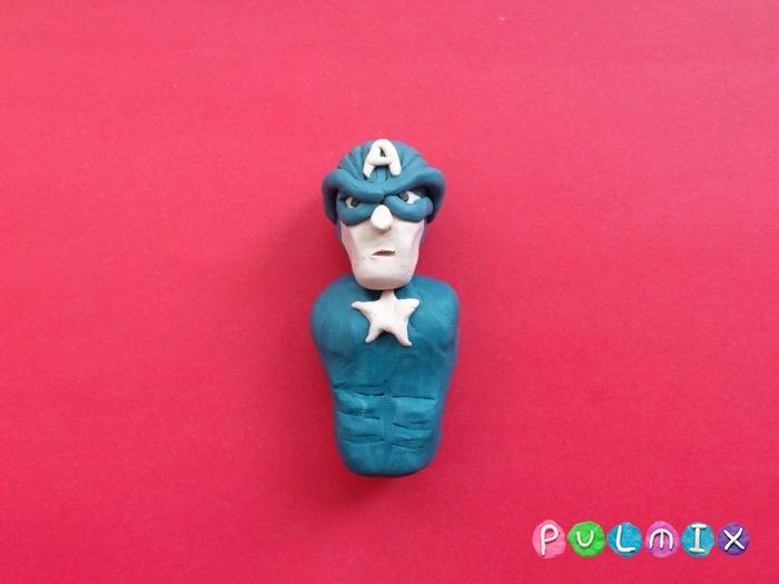 Как слепить Капитана Америка из пластилина поэтапно - шаг 8