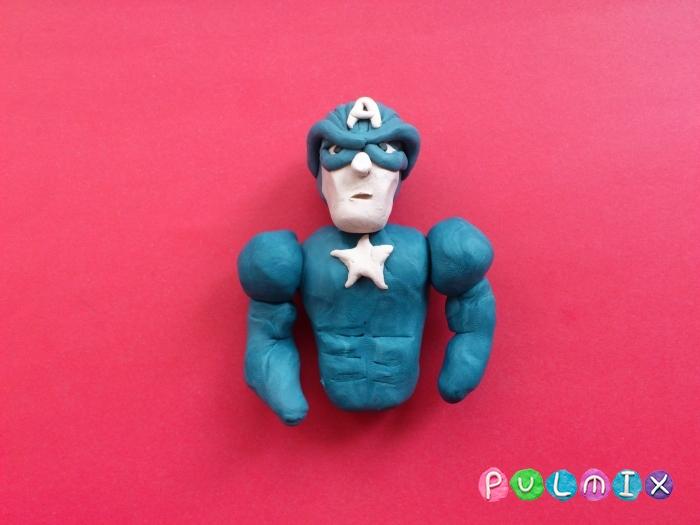 Как слепить Капитана Америка из пластилина поэтапно - шаг 9