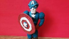 Лепим Капитана Америка из пластилина своими руками поэтапно