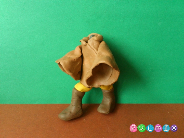 Как слепить Люка Скайуокера из пластилина поэтапно - шаг 11