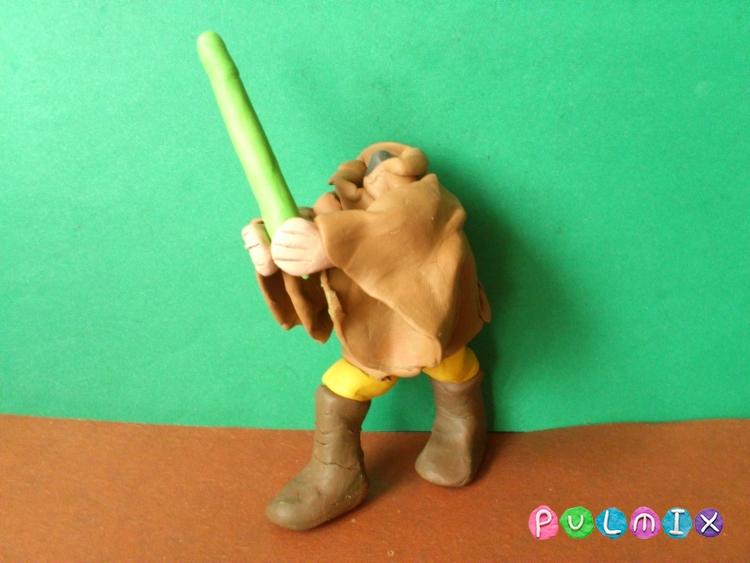 Как слепить Люка Скайуокера из пластилина поэтапно - шаг 12