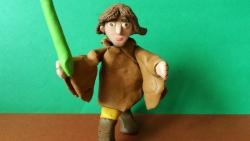 Как слепить Люка Скайуокера из пластилина героя фильма Звездные войны